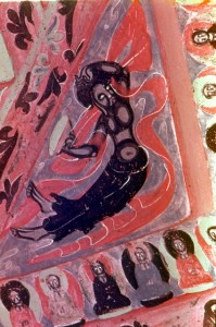 flying devis, (cave 296 Northern Zhou)