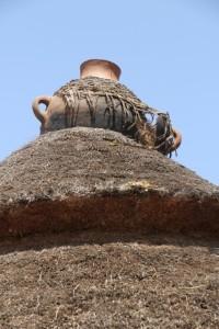 waterproofing of the roof, in Gesergiyo village