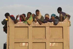 on the way to the Djibouti border: no need to hide yet