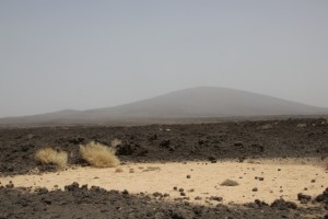 another volcano, Amaytole, decorating the desolate landscape