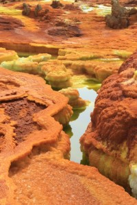 colourful deposits in Dallol