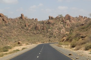 the road to Jijiga, complete with granite hills