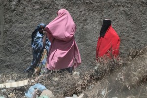 the women in Wajaala, the only source of colour in town
