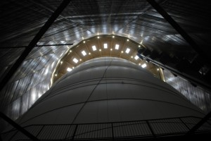 the structure inside the Gasometer