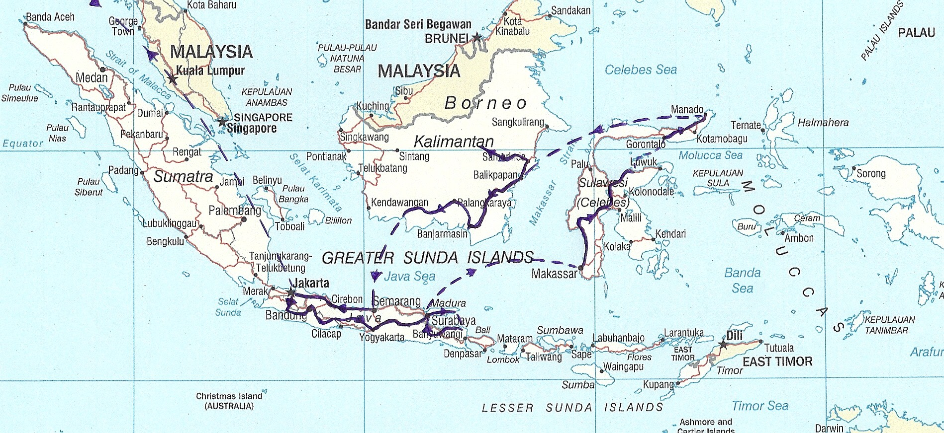 indonesia route 2013