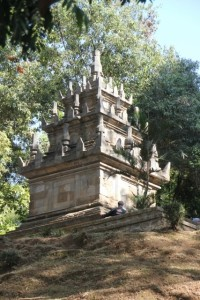 and the temple itself, really small