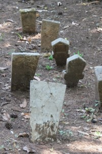 a large part of the island is used as a cemetery