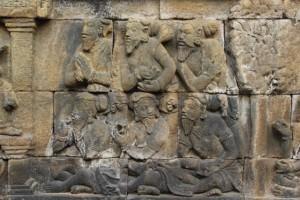 bas-relief of old men