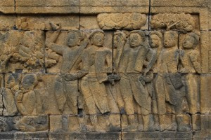 bas-relief of foot soldiers