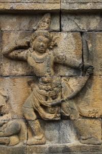 bas-relief of a warrior