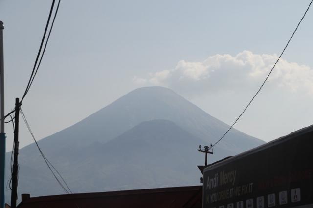 Gunung Sindoro dominates the view from Wonosobo
