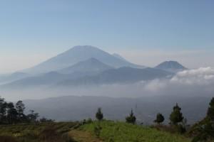 Gunung Merbabu, and probably Merpati behind it