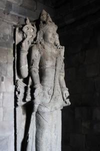 and the occasional statue inside the temple