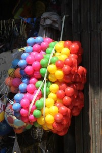and to add some colour, plastic balls in whole-sale quantities
