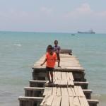jetty of a fishing village in Pulau Madura