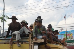 the men of Pulau Madura, on the way to the cattle market