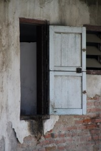 a window with shutter