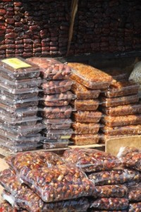 dates and nuts are popular outside the mosque