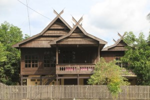 one of the fabulous wooden houses in the area of Pare Pare
