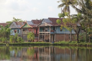 houses on the southern edge of town