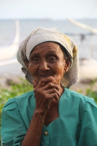 one of the older ladies in the fishing community