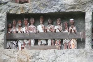 tau-tau, or wooden efigies, in Lemo