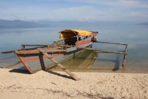 our lake transport to Tentana