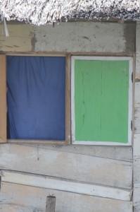 window of a Tentana house