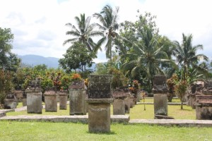 sarcophagi in the Minahasa cemetry in Sawangan