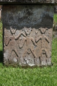 sometimes, the sarcophagi are also carved, like this one depicting a man and two women, giving birth