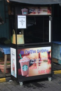 closest to a mall, and iced cappucino, in Muara Muntai