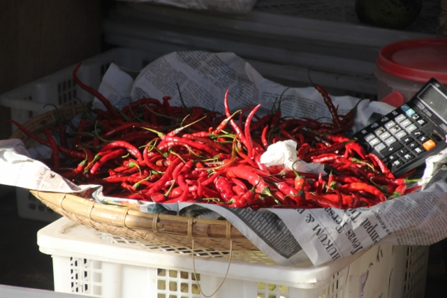 chilli peppers are everywhere in Indonesia