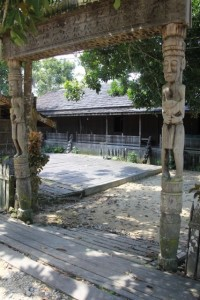 the entry to the longhouse