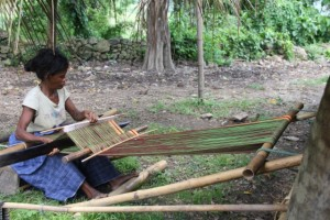 in almost every village you'll find ikat weaving