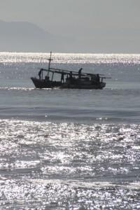 fishing off Wanokaka beach