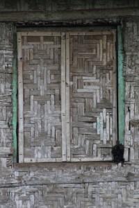 a bamboo window