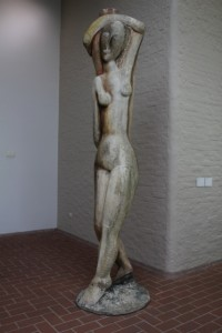 wooden sculpture inside the Kroller-Muller