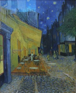 Van Gogh's 1888 painting Cafe Terrace at Night (Place de Forum)