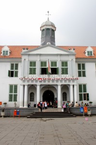 the old town hall at Taman Fatahilla, now a museum