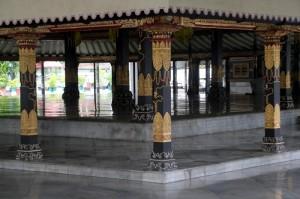 central platform in the Yogyakarta palace