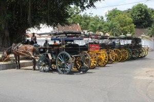 andongs parked in the Kraton