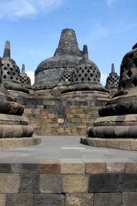 top of the Borobudur temple