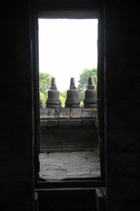door of one the Prambanan temples