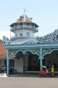 a corner tower, the only multi-story part of the Kraton in Solo