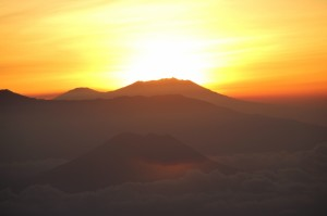early view of the sunrise