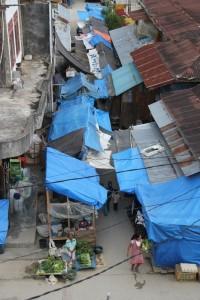 Mamasa market from above