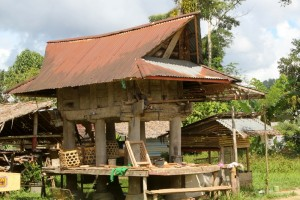 not all the buildings are new, this is a rather old rice barn