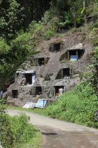 rock-hewn graves on the road past Batutumonga