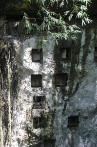 rock tombs near the village of Pana