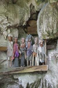 tau tau balcony, protecting a series of coffins